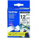 CINTA BROTHER ORIG.TZFX231/E BLANCO/NEGRO 12MM