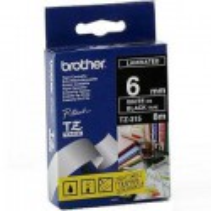 CINTA BROTHER ORIG.TZ315/E NEGRO/BLANCO 6MM
