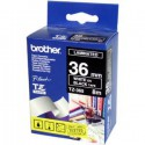 CINTA BROTHER ORIG.TZ365 NEGRO/BLANCO *36MM
