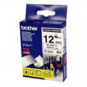 CINTA BROTHER ORIG.TZS231/E BLANCO/NEGRO  12MM