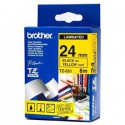CINTA BROTHER ORIG.TZ651/E AMAR./NEGRO 24MM