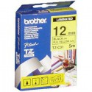 CINTA BROTHER ORIG.TZC31/E AMAR./FLUOR./NEGRO 12MM
