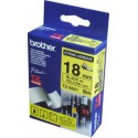 CINTA BROTHER ORIG.TZS641 AMARILLO/NEGRO 18MM
