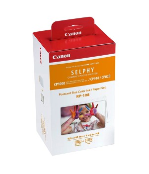 MULTIPACK CANON PAPEL+ TINTA COLOR  RP-108