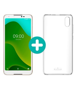 "TELEFONO SMART WIKO Y70 5,99"" QC1,3 16GB/1GB GOLD + CARCASA"