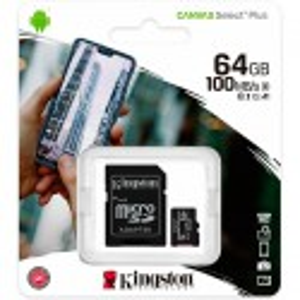 MICRO SD KINGSTON XC 64GB+ADAPT.CLASE 10 100MB/S